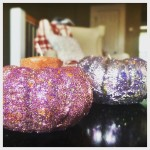 Bling bling DIY Glitter Pumpkin candles for your Thanksgiving tablehellip