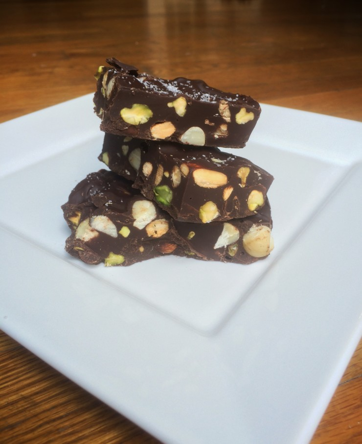 Dark Chocolate Nut Bark
