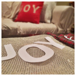 DIY Holiday Pillows prep