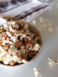 Brown Butter Macademia Nut Popcorn