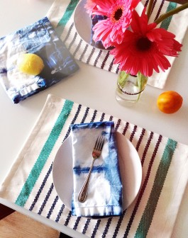 DIY Shibori Napkins Featured