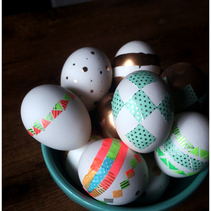 DIY Washi Tape Easter Eggs2