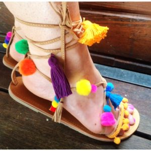 DIY Pom Pom Sandals secondary