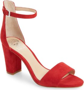 Vince Camuto Corlina Red Ankle Strap Sandal